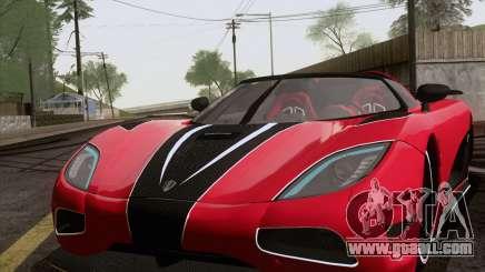 Koenigsegg Agera R 2011 for GTA San Andreas