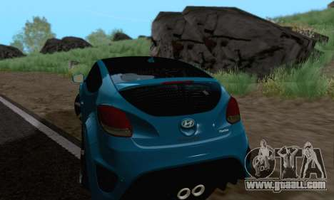 Hyundai Veloster for GTA San Andreas back left view