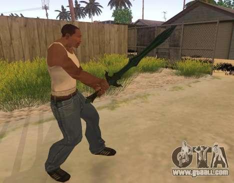 Glass Sword from Skyrim for GTA San Andreas third screenshot
