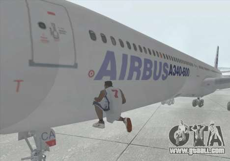 Airbus A340-600 for GTA San Andreas inner view