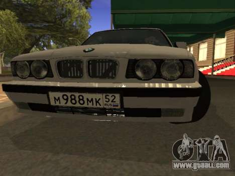 BMW 525 Smotra for GTA San Andreas back view