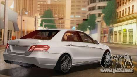 Mercedes-Benz E63 AMG 2014 for GTA San Andreas bottom view