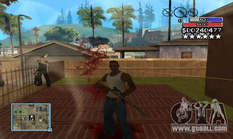 C-HUD by NickQuest for GTA San Andreas second screenshot