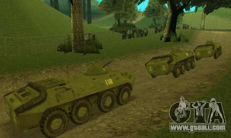 BTR-70 for GTA San Andreas left view