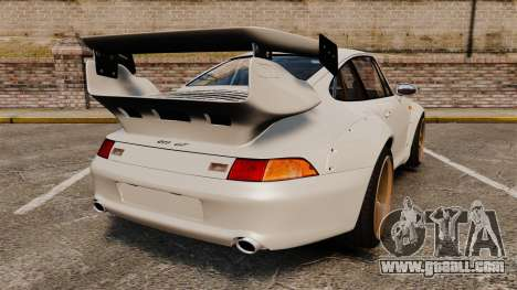 Porsche 993 GT2 1996 v1.3 for GTA 4 back left view