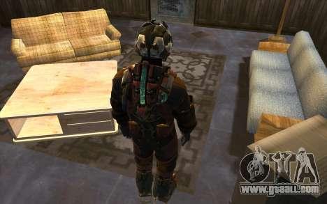 Isaac Clark in E.V.A Suit for GTA San Andreas third screenshot