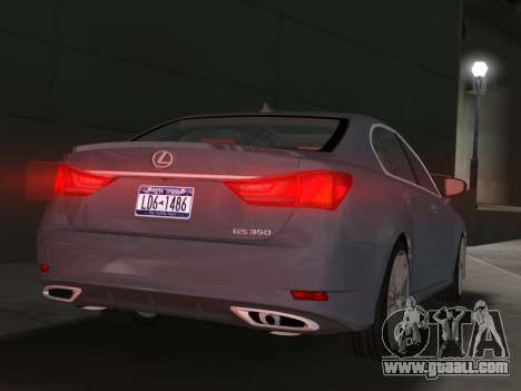 Lexus GS350 F Sport 2013 for GTA Vice City right view
