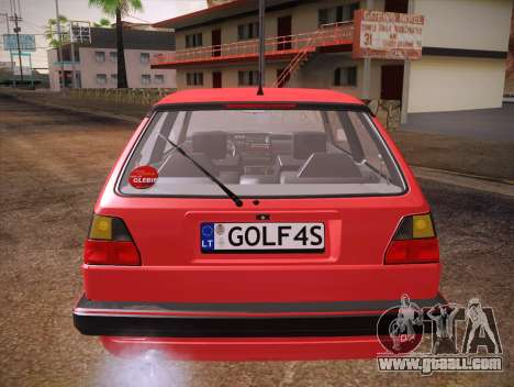 Volkswagen Golf Mk2 for GTA San Andreas bottom view
