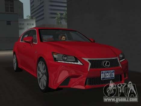 Lexus GS350 F Sport 2013 for GTA Vice City
