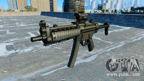 Submachine gun MP5 RIS Nom900a for GTA 4