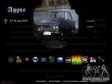 Menu Soviet cars for GTA San Andreas eighth screenshot
