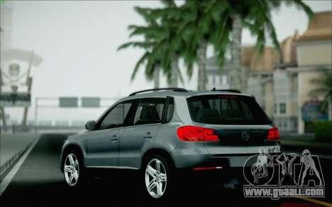 Volkswagen Tiguan 2012 for GTA San Andreas bottom view