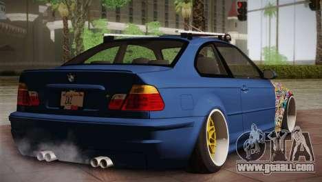 BMW M3 E46 Hellaflush for GTA San Andreas back left view
