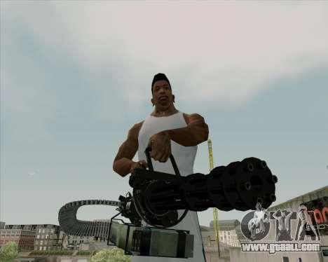 Renegades Minigun Black for GTA San Andreas