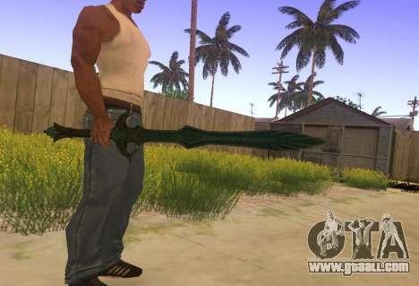 Glass Sword from Skyrim for GTA San Andreas second screenshot