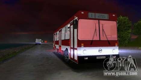 LIAZ-5256 for GTA Vice City back view