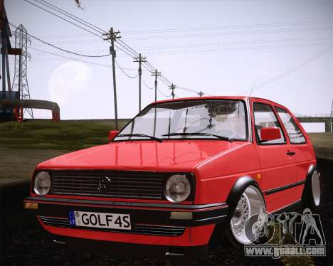 Volkswagen Golf Mk2 for GTA San Andreas right view