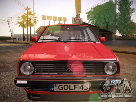 Volkswagen Golf Mk2 for GTA San Andreas upper view