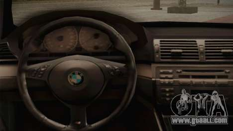 BMW M3 E46 Hellaflush for GTA San Andreas inner view