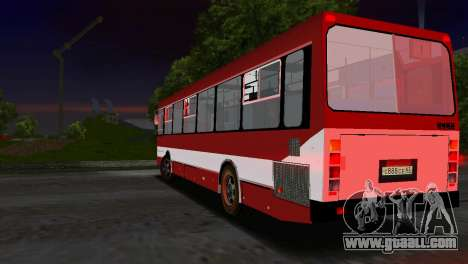 LIAZ-5256 for GTA Vice City inner view