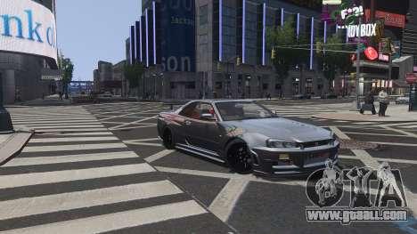 Nissan Skyline GTR-34 Nismo Z-Tune for GTA 4 bottom view