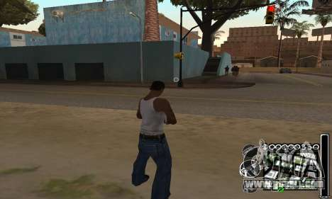 C-HuD Black White for GTA San Andreas second screenshot