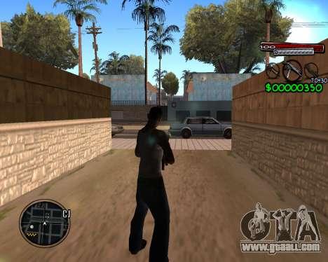 C-HUD by Santoro for GTA San Andreas second screenshot