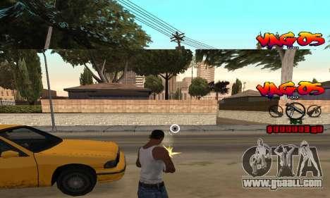 HUD Vagos for GTA San Andreas third screenshot