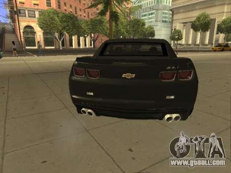 Chevrolet Camaro ZL1 for GTA San Andreas back left view