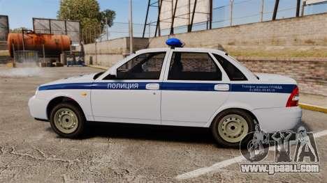 VAZ-2170 Police for GTA 4 left view