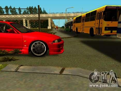 Nissan Skyline R33 GT-R V-Spec for GTA San Andreas back view