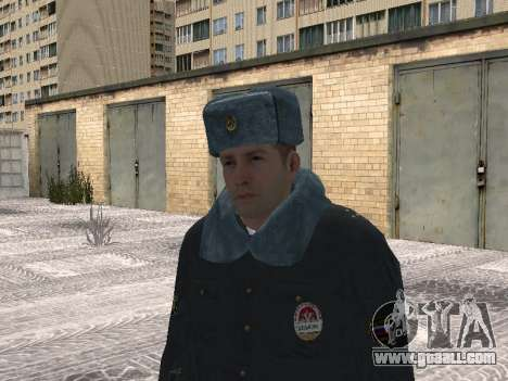 Pak police officers in the winter uniforms for GTA San Andreas fifth screenshot