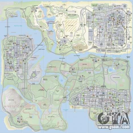 HQ Radar by Rockstar for GTA San Andreas