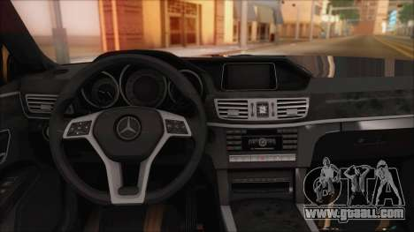 Mercedes-Benz E63 AMG 2014 for GTA San Andreas upper view