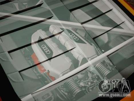 Audi R8 LMS v2.0.4 DR for GTA San Andreas bottom view