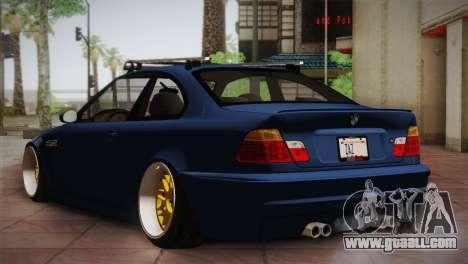 BMW M3 E46 Hellaflush for GTA San Andreas right view