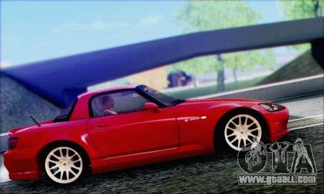 Honda S2000 Daily for GTA San Andreas bottom view
