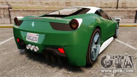 Ferrari 458 Italia for GTA 4 back left view