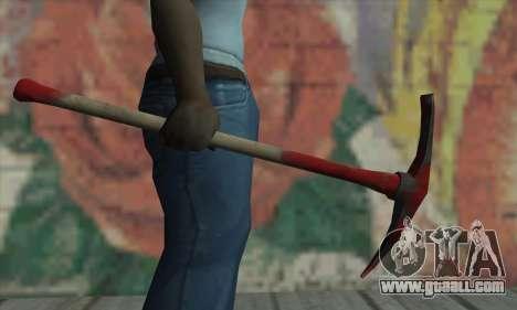 Pickaxe for GTA San Andreas forth screenshot