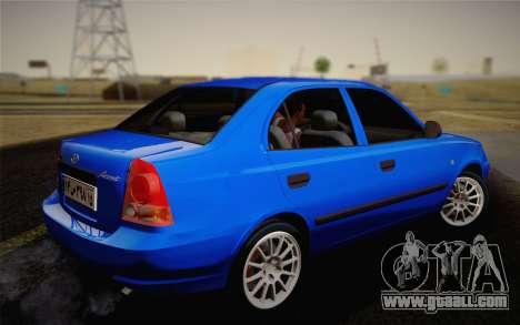 Hyundai Accent Admire 2004 for GTA San Andreas left view