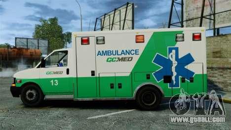 Brute GQ Med Ambulance [ELS] for GTA 4 left view