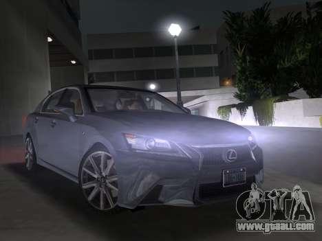 Lexus GS350 F Sport 2013 for GTA Vice City back view