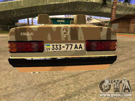 Mercedes-Benz 190E Army for GTA San Andreas left view