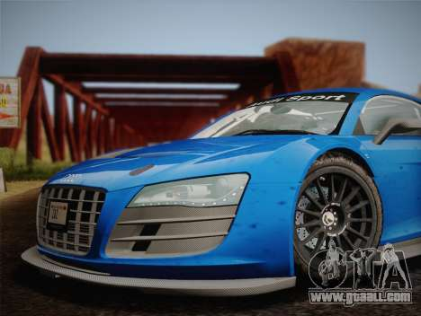 Audi R8 LMS v2.0.4 DR for GTA San Andreas back view