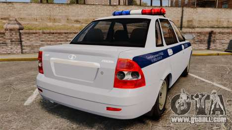 VAZ-2170 Police for GTA 4 back left view