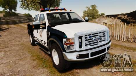 Ford F-250 Super Duty Police [ELS] for GTA 4