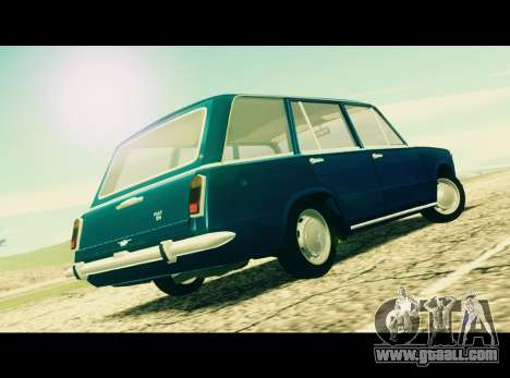 Fiat 124 Familiare for GTA San Andreas left view