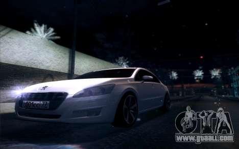 Peugeot 508 2011 v2 for GTA San Andreas inner view