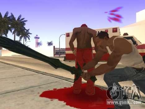 Glass Sword from Skyrim for GTA San Andreas forth screenshot