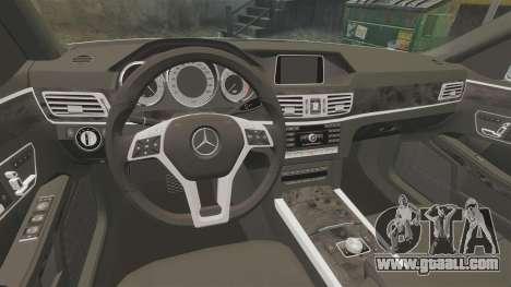 Mercedes-Benz E63 AMG 2014 v2.0 for GTA 4 inner view